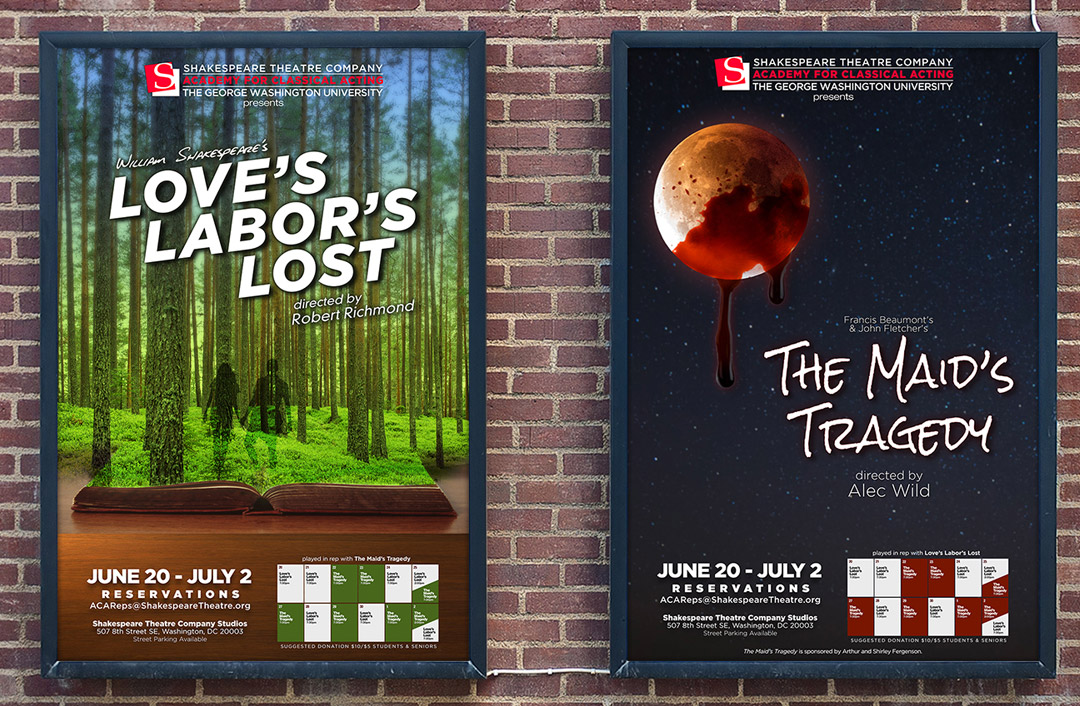 Theatrical Posters for 2016 Rep Plays